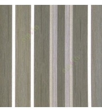 Black beige color vertical pencil stripes thin texture lines fabric finished thread deigns home décor wallpaper