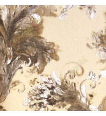 Black gold beige color traditional flower design oil painting texture finished embossed pattern home décor wallpaper