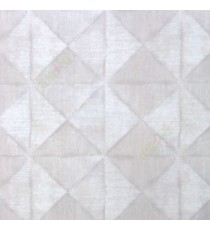 Beige cream grey color geometric diamond shapes slanting line crossings triangle texture finished home décor wallpaper