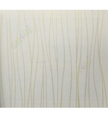 Beige colour vertical stripes with self texture home décor wallpaper for walls