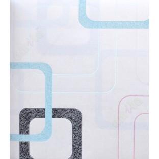 Blue White Black Retro Square Design Home Design Wallpaper For Walls