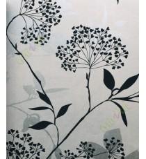 Black beige silver traditional floral design home décor wallpaper for walls