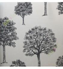 Black beige colour beautiful natural full tree design home décor wallpaper for walls