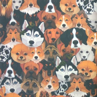 Black Brown Orange White Color Cure Puppy Dogs Wolf Wild And