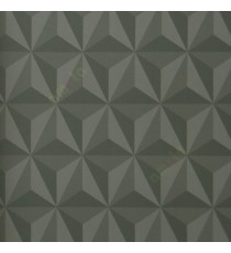 Black and grey color geometric triangle carved patterns 3D designs sharp edges abstract pattern home décor wallpaper