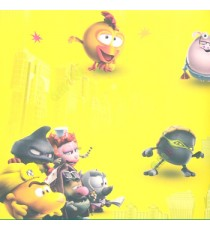 Yellow red white  black grey pink color cartoons angry birds animal cartoons nurse with injection pigs old type palace kids home décor wallpaper