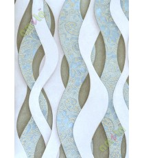 Blue grey green colour elegant vertical trendy design home décor wallpaper for walls