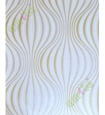 Beige gold grey ogee pattern home décor wallpaper for walls