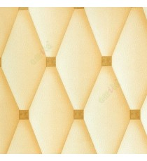 Beige gold color polka dots small circles geometric square diamond shaped latherite finished wallpaper