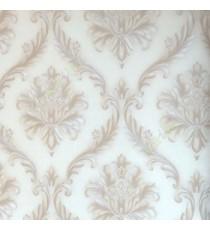 Beautiful beige grey color big damask carved damask designs texture finished background wallpaper