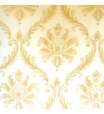 Beautiful gold beige color big damask carved damask designs texture finished background wallpaper