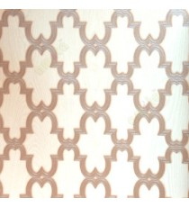 Brown beige grey color moroccan pattern texture finished traditional design wallpaper