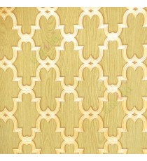 Green brown color moroccan pattern texture finished traditional design wallpaper