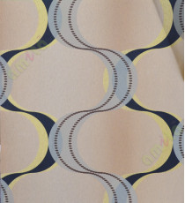 Brown black yellow dot and colourful vertical lines home décor wallpaper for walls