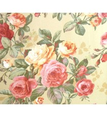 3D finished pleasant looks with red rose flower and green color leaves buds in long stems floral wallpaper