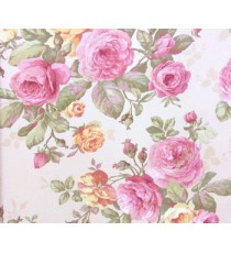3D finished pleasant looks with purple rose flower and green color leaves buds in long stems floral wallpaper