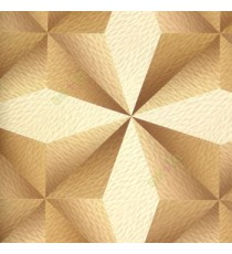 Brown beige gold color traditional square diamond shapes 3D design star texture pattern horizontal and vertical random lines color scales home décor wallpaper