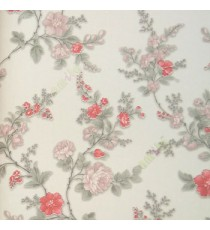 Red grey white pink gold color beautiful natural flower designs leaf seeds thin branches elegant look patterns home décor wallpaper