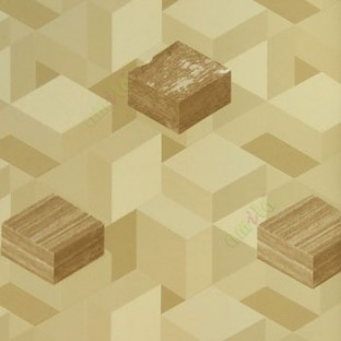 Brown gold beige color geometric square blocks 3D shapes abstract design  horizontal and vertical lines background patterns home décor wallpaper