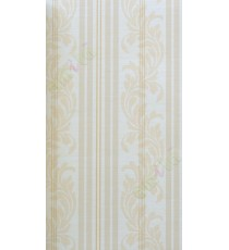 Yellow white brown vertical motif with bold stripes home décor wallpaper for walls