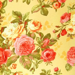 Maroon Pink Color Beautiful Rose With Green Small Buds And Leaf Mustard Yellow Background Wallpaper