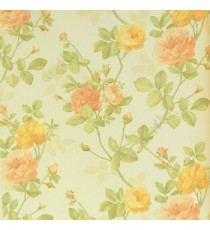 Pink Yellow Maroon color beautiful rose with green color small rose buds and green leaf with hanging rose tree white background wallpaper