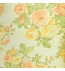 Pink yellow color beautiful rose with green color small rose buds and green leaf with white background wallpaper