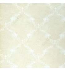 Beige white color self texture small gradients anti slip feel with crossing floral bolds  in wallpaper