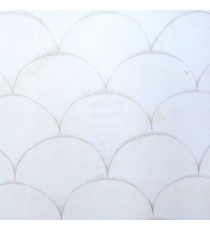 Grey white color semi circles traditional multiple rainbow scale pattern wallpaper