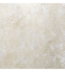 Beige brown color self texture traditional designs carved finished patterns wallpaper