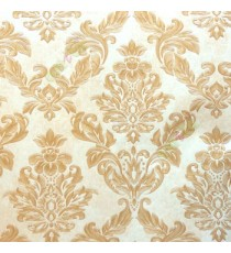 Beautiful damask pattern gold beige traditional finished embossed designs clear pattern wallpaper