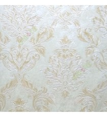 Beautiful damask pattern beige gold traditional finished embossed designs clear pattern wallpaper