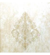 Big damask pattern traditional texture background brown beige gold color self damask pattern wallpaper
