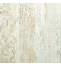 Beige brown gold color traditional pattern vertical texture lines carved finished wallpaper