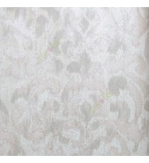 Beige cream brown color traditional patterns with texture finished damask design wallpaper