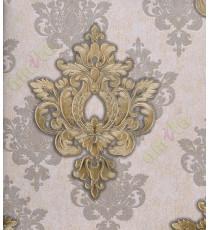Black brown gold colour traditional motif design home décor wallpaper for walls