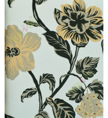 Black white yellow beautiful floral elegant design home décor wallpaper for walls