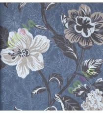 Black silver brown beautiful floral elegant design home décor wallpaper for walls