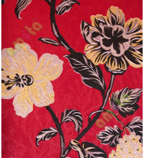 Red black gold purple beautiful floral elegant design home décor wallpaper for walls
