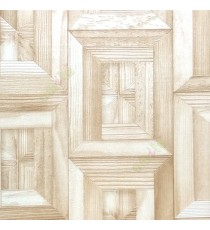 Beige cream color natural wooden carved designs vertical and horizontal lines texture rectangular 3D pattern home décor wallpaper