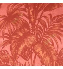 Dark purple color big banana leaf and ferns swirl jungle plants purple background traditional looks wallpaper