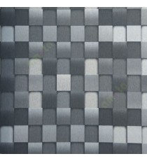 Black and grey color geometric pattern square box same color chess board box pattern wallpaper