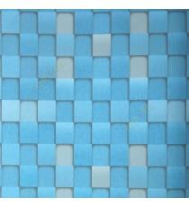 Aqua blue grey black color geometric pattern square box same color chess board box pattern wallpaper