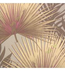 Brown gold pink color Cyperus Umbrella Plant leaf big design leaf sharp edges texture finished floral plant leaf home décor wallpaper