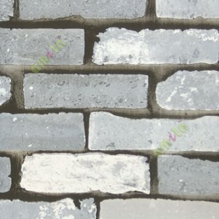 Black Grey White Color Stone Brick Finished Texture 3d Look Wall