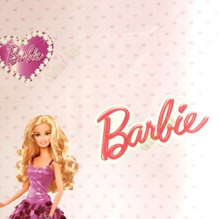 Purple White Red Orange Color Barbie Small Hearts Background