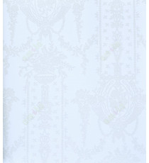 Pure white with sparkles colour traditional hanging floral vase home décor wallpaper for walls