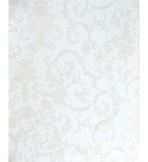 Beige brown color with traditional floral design home décor wallpaper for walls