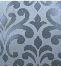 Black grey color glitters with traditional big design home decor wallpaper for walls