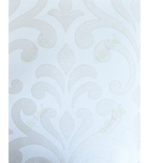 Beige white color glitters with traditional big design home decor wallpaper for walls